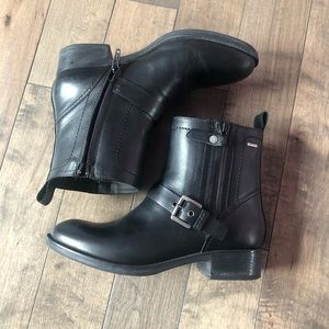 Geox leather ankle boots booties shoes in black